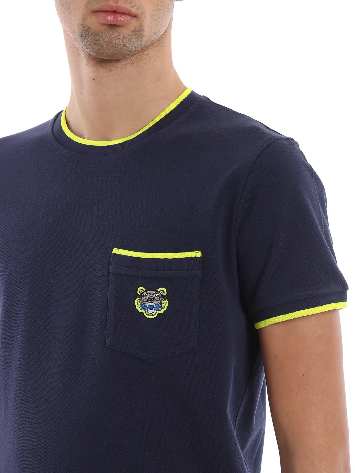 b58034c8b9e2 Kenzo - Tiger blue cotton piqué T-shirt - t-shirts - F005TS0014BA 78