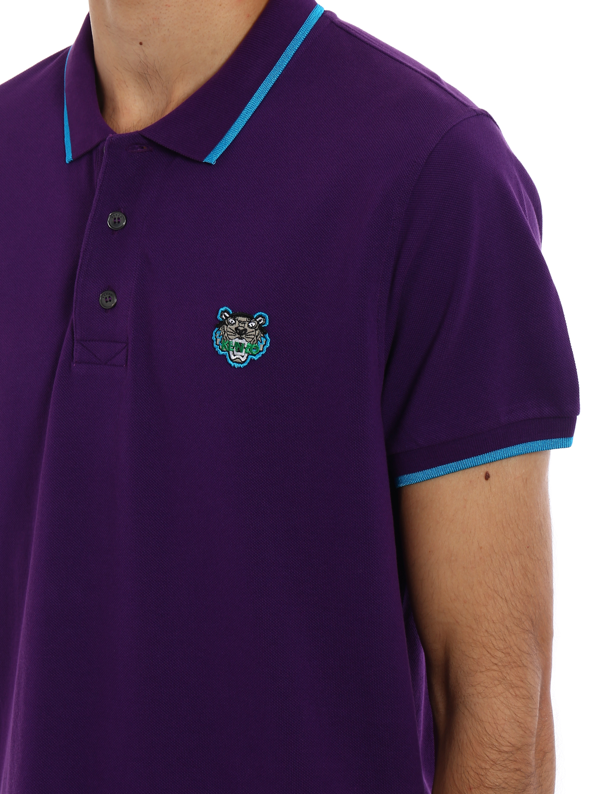 875dbe984 Kenzo - Tiger logo detail cotton polo shirt - polo shirts ...