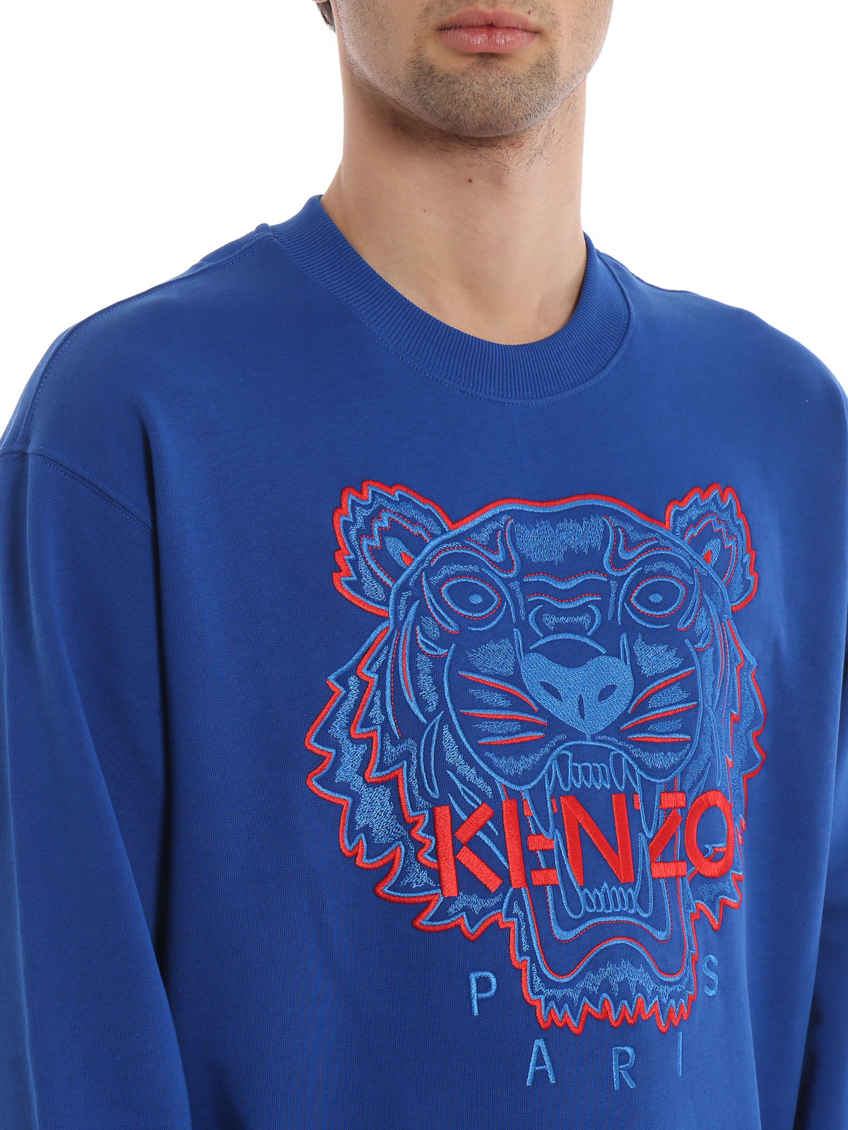 Kenzo - Two-tone cotton Tiger classic sweatshirt - Sweatshirts ... 22a66be2ec2