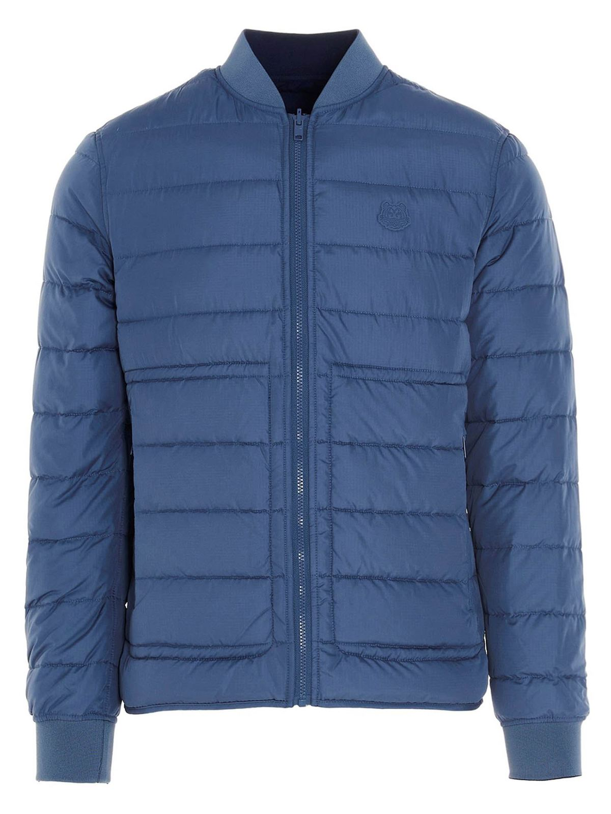 Kenzo REVERSIBLE LOGO DOWN JACKET IN BLUE