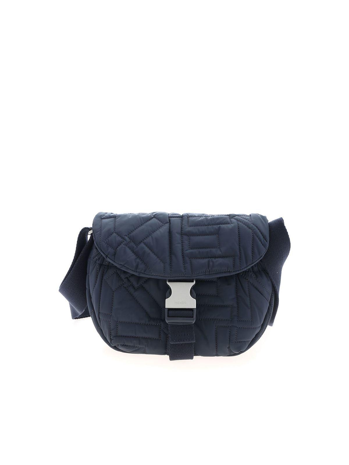 KENZO SMALL ARCTIK SHOULDER BAG IN BLUE