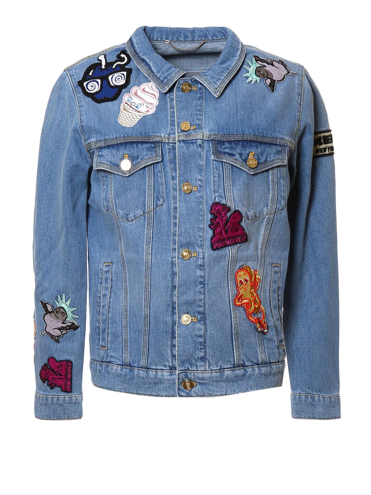 Kenzo: denim jacket - Patch detail denim jacket