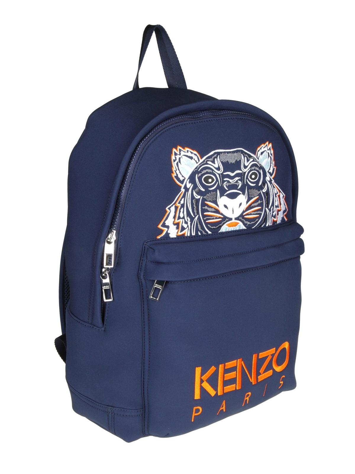 cfc2c8bbb9 KENZO: backpacks online - Tiger navy blue neoprene large backpack