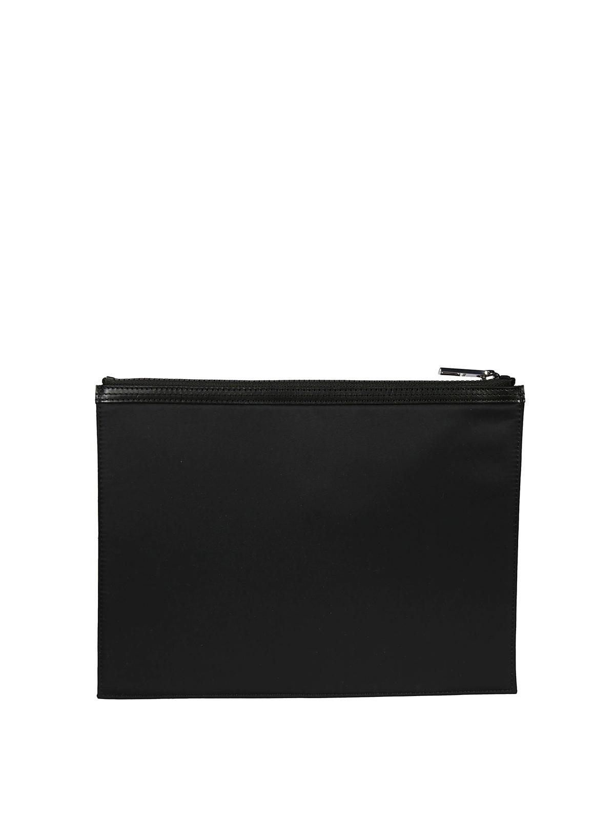 5bc8cc6770 Kenzo - A4 Kenzo Paris zipped nylon clutch - clutches - F855PM202F2499
