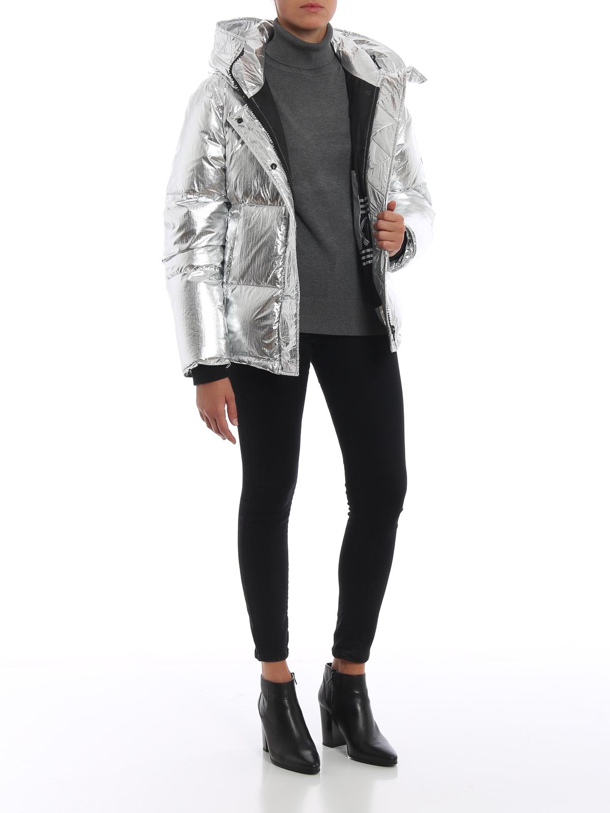 c977cf70 KENZO: padded jackets online - Crackle metallic nylon hooded puffer jacket