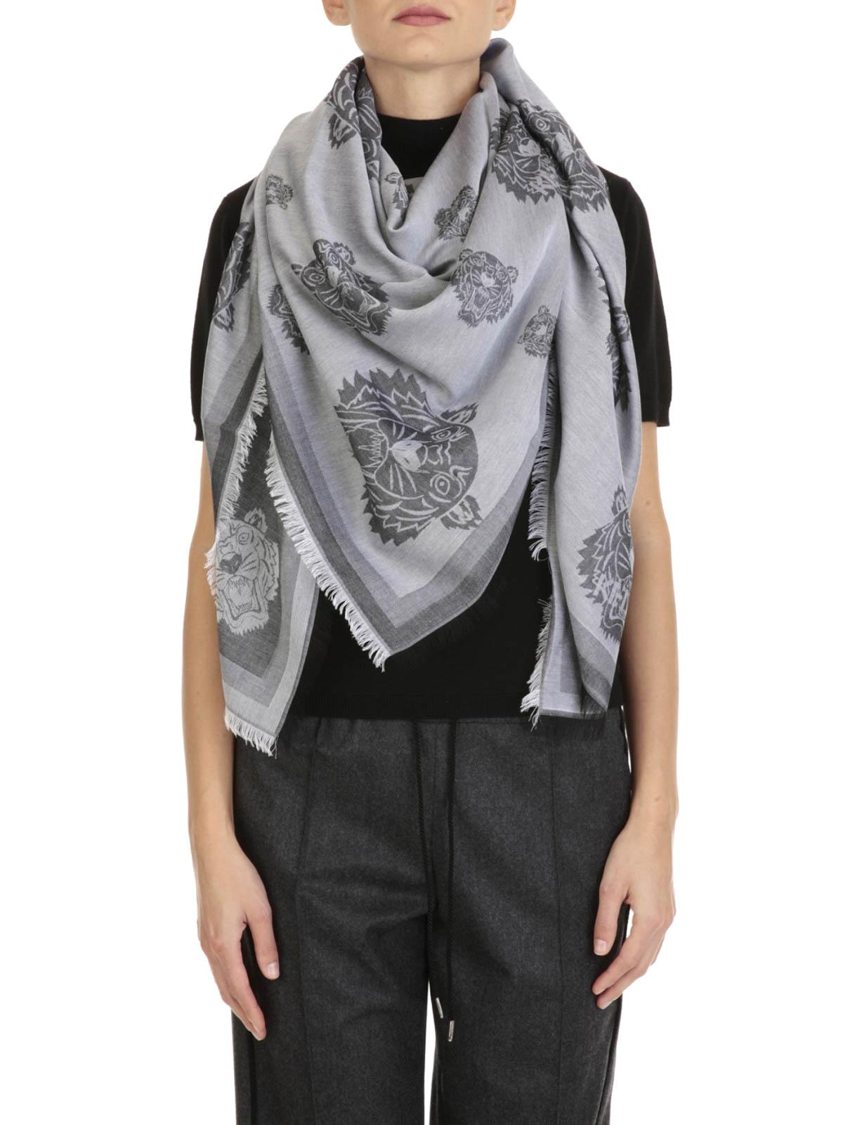 0450be0fa1cf Kenzo - Foulard Tiger in misto cotone - sciarpe e foulard - 01404 ...