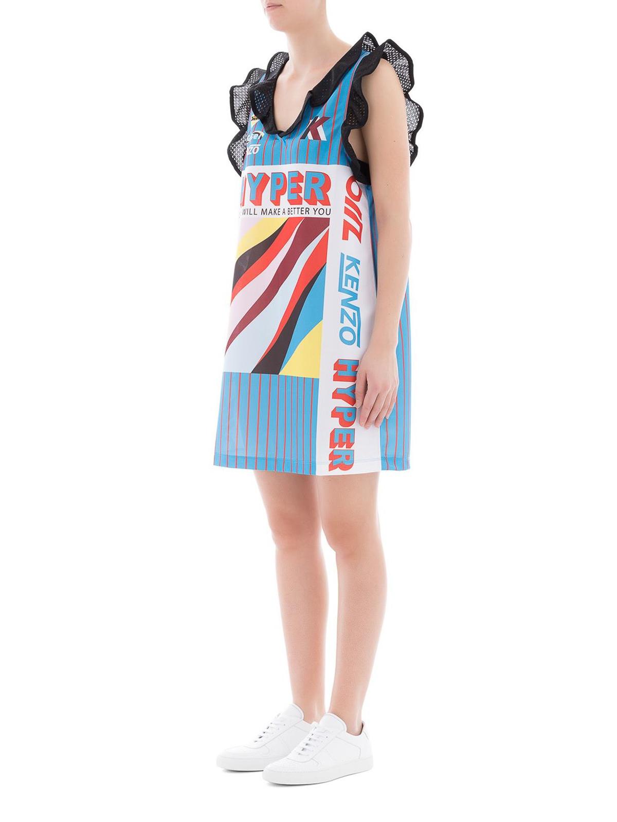 830b4892 Kenzo - Flounced striped short dress - short dresses - F852R0838920 MU