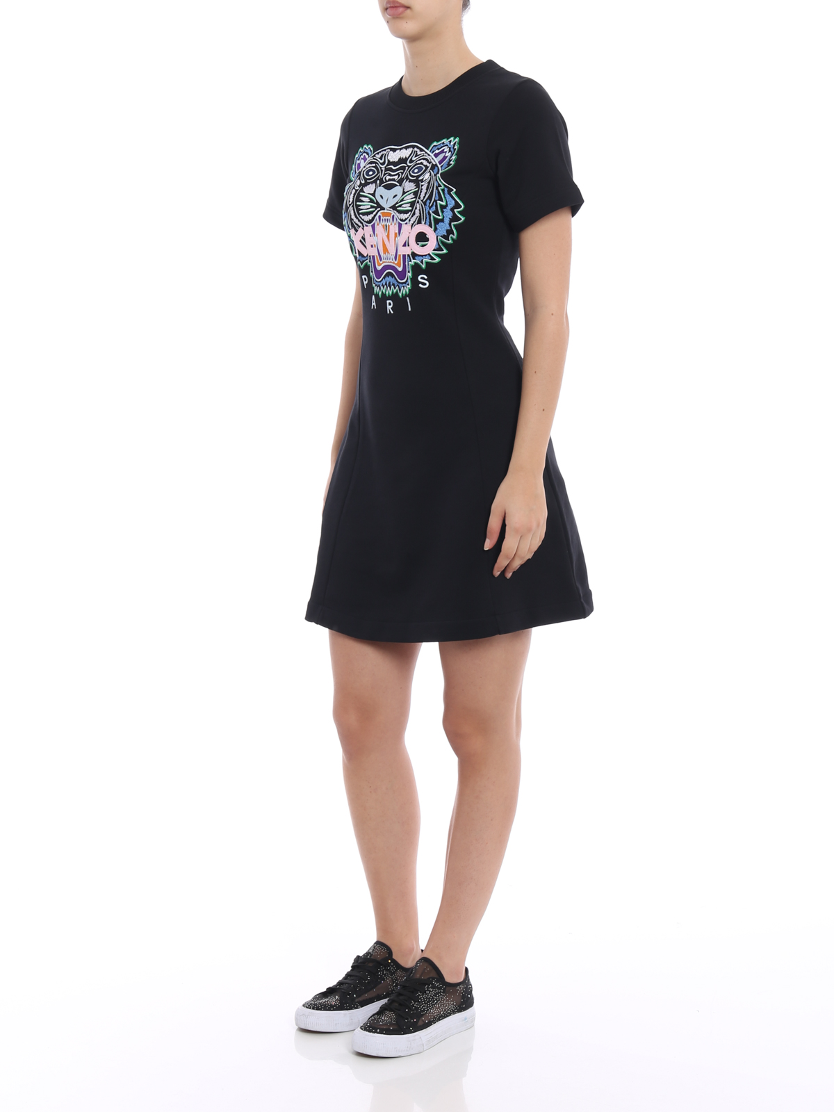 918f3eb57 KENZO: short dresses online - Tiger embroidery flare summer dress