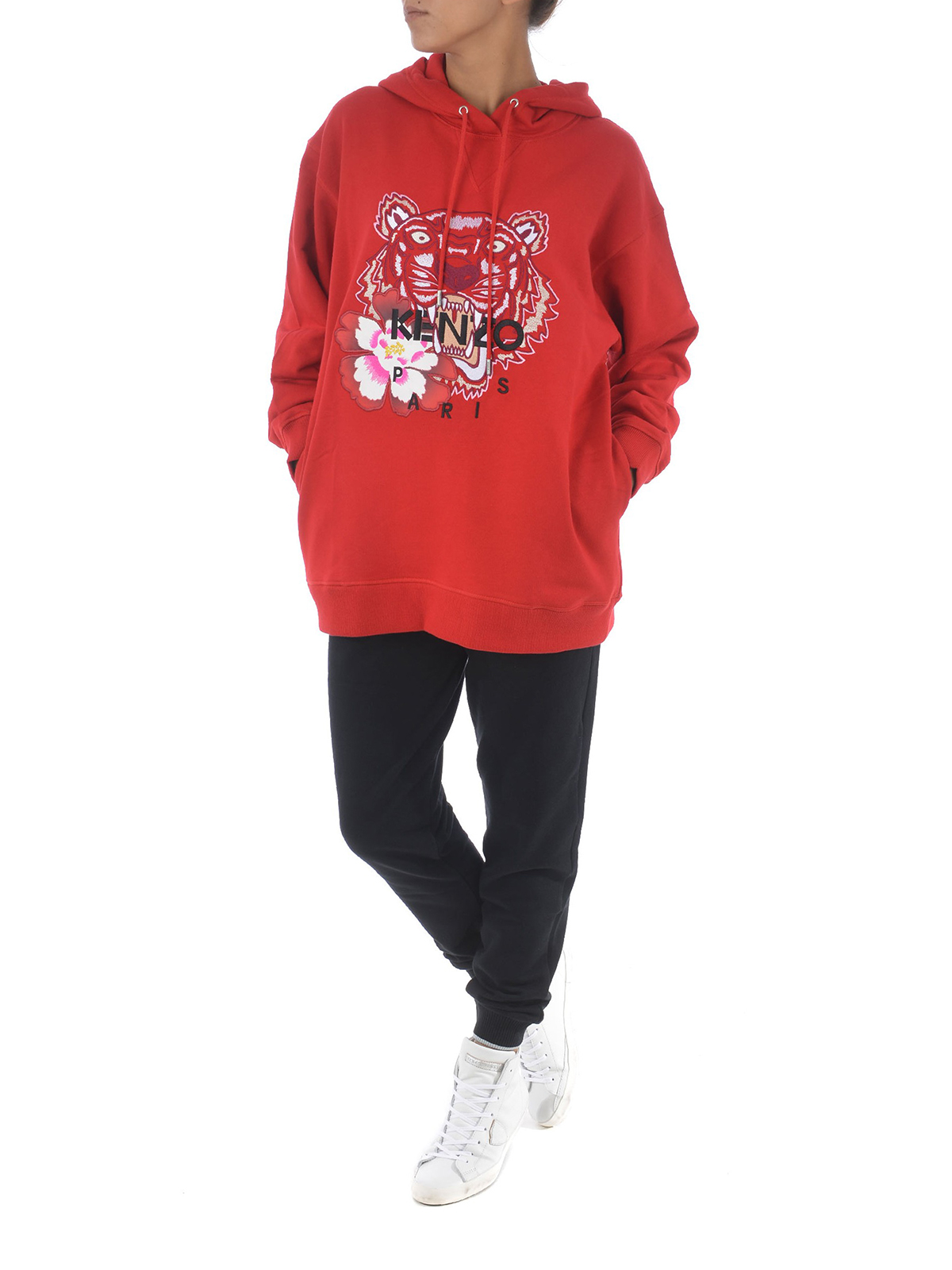 d54899630d KENZO: Sweatshirts & Sweaters online - Red Tiger embroidery sweatshirt