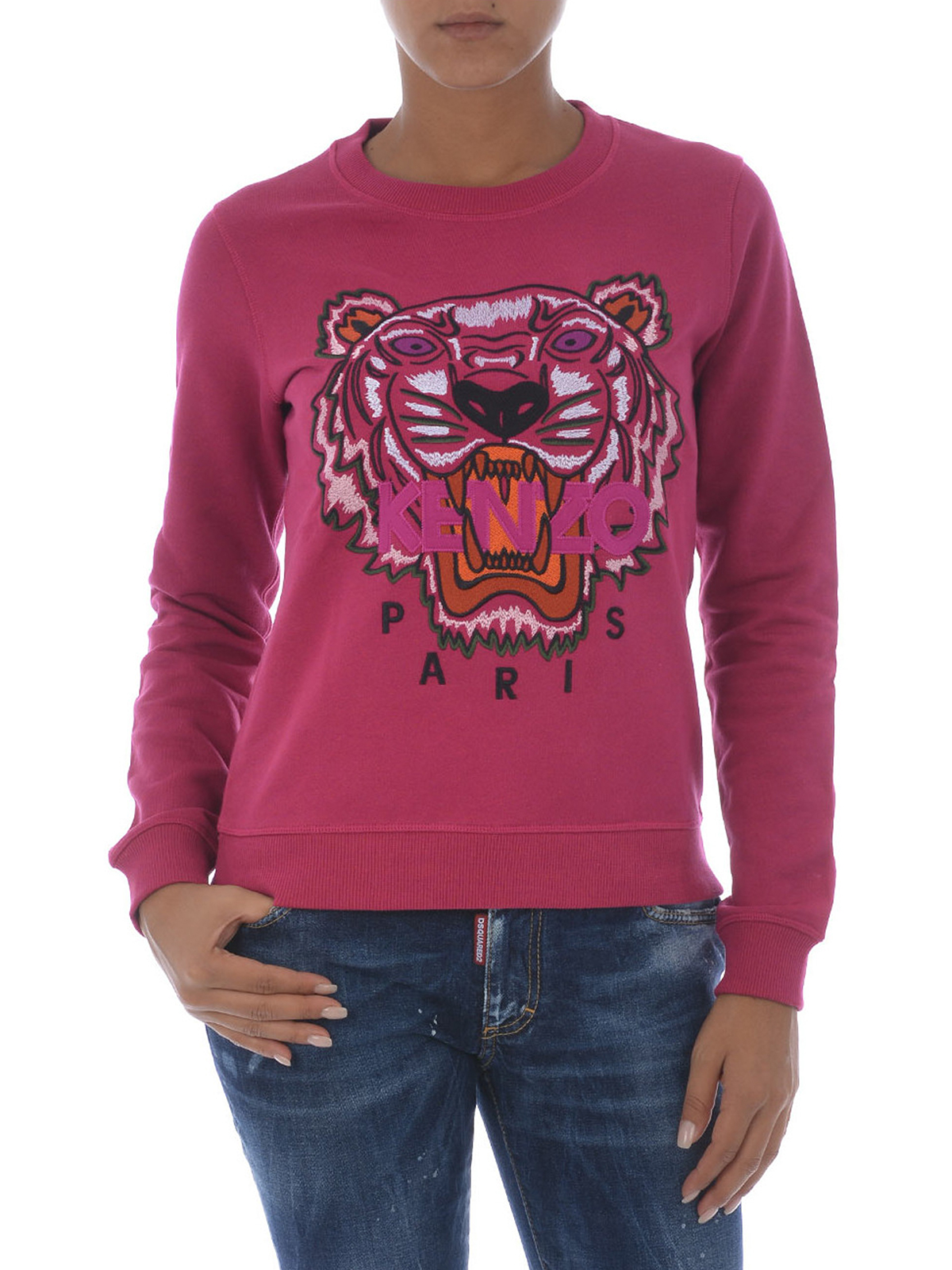 c133374452 KENZO: Sweatshirts & Sweaters online - Tiger embroidery cotton sweatshirt