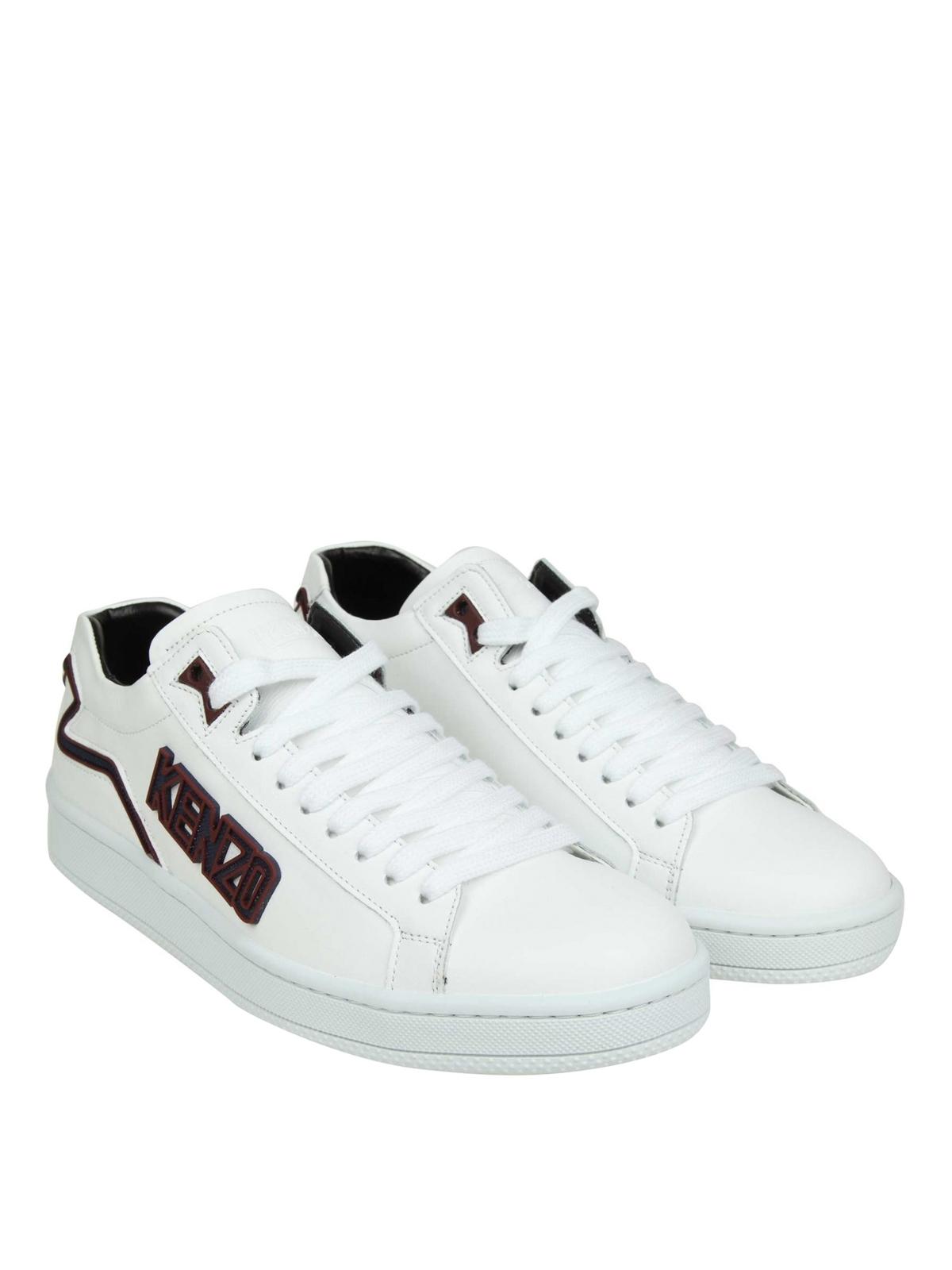 Kenzo - Tennix white leather sneakers