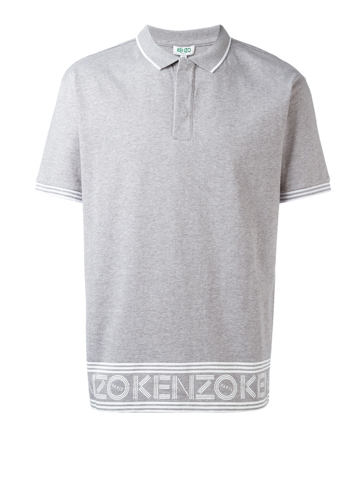 Bottom logo cotton polo shirt by kenzo polo shirts for Polo shirts with logos