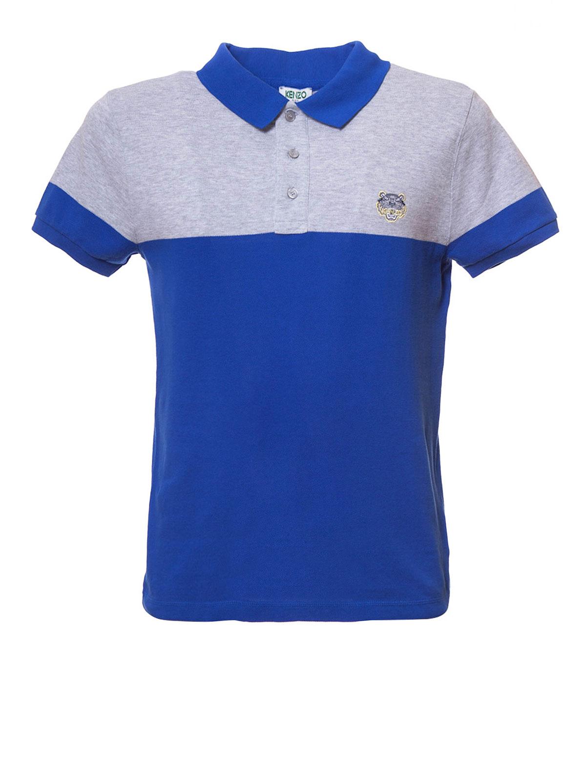 Kenzo Two Tone Tiger Polo Shirt Polo Shirts