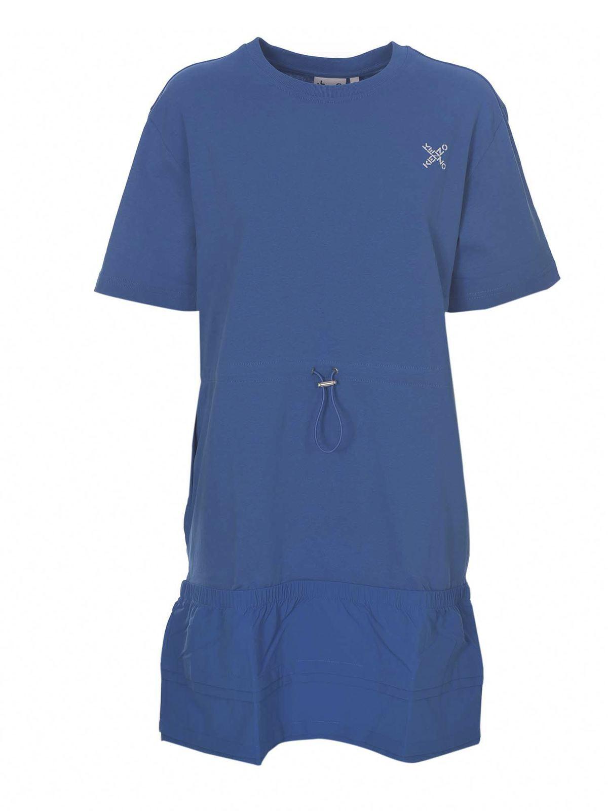 Kenzo LITTLE X T-SHIRT DRESS IN BLUE