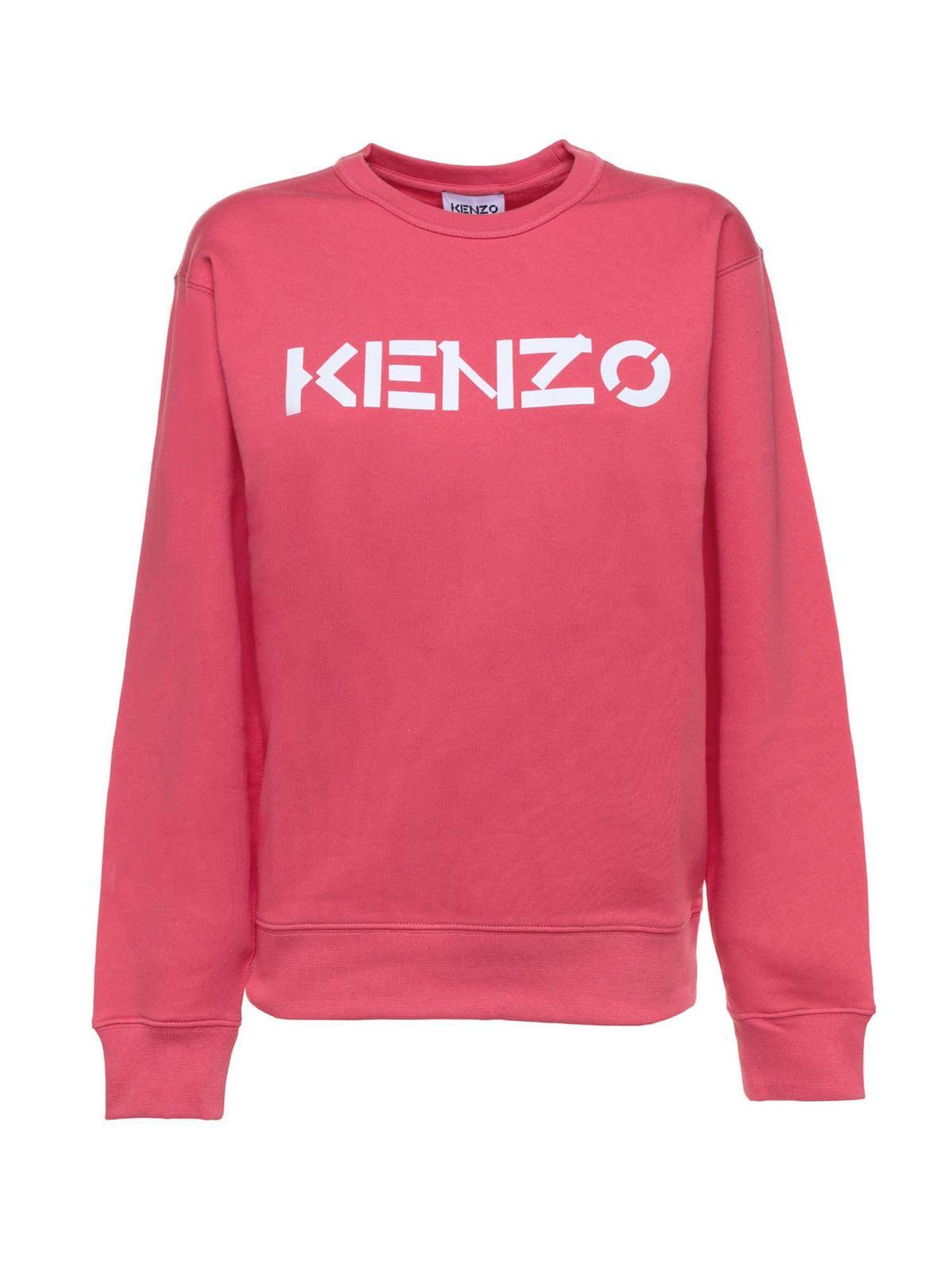 Kenzo LETTERING SWEATSHIRT IN TANGERINE