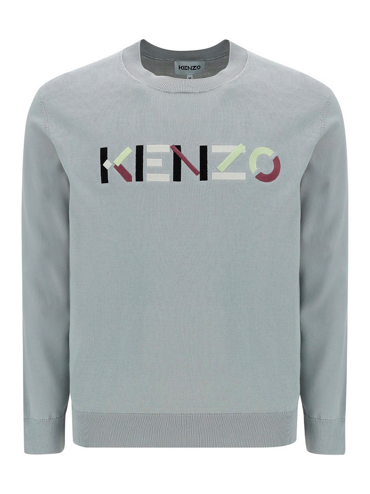 Kenzo Cottons LOGO EMBROIDERY COTTON SWEATER