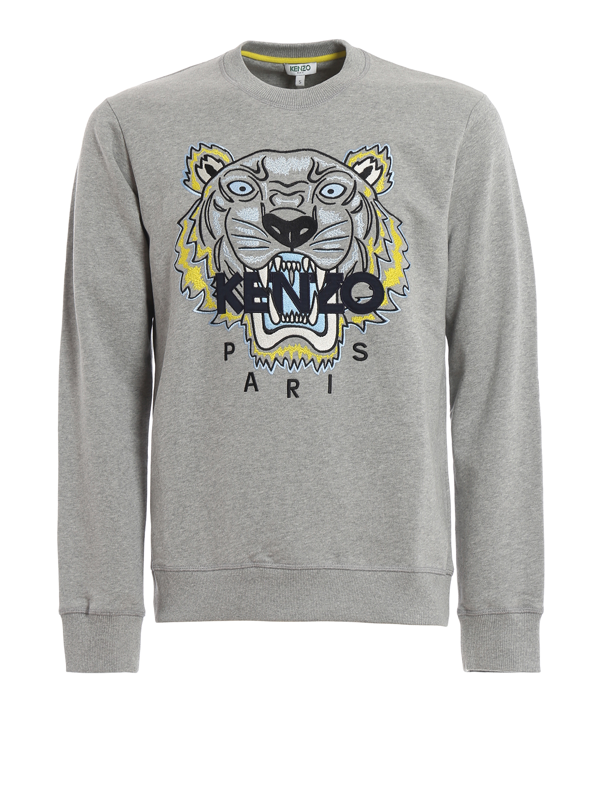 KENZO  Sweatshirts   Sweaters - Pearl grey cotton Tiger classic sweatshirt 05ea1d50929