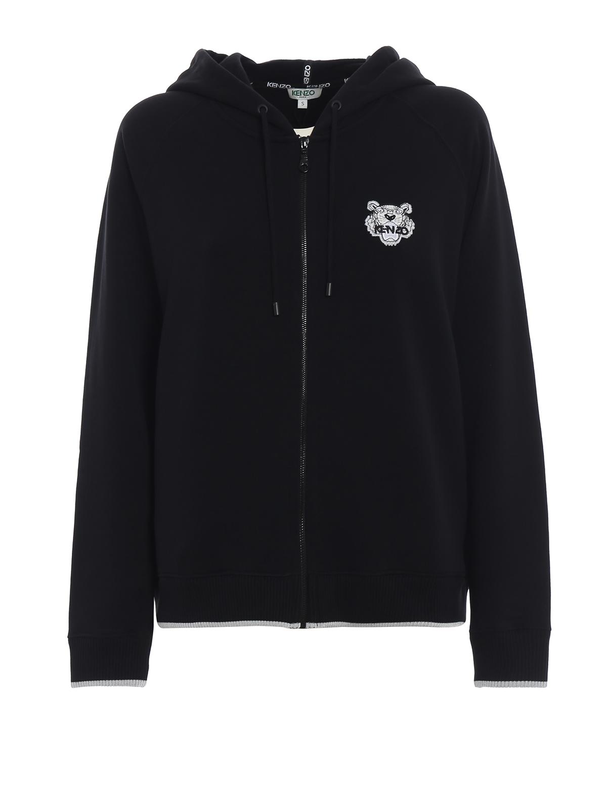 7fefb864c Kenzo - Tiger crest zip cotton hoodie - Sweatshirts & Sweaters ...