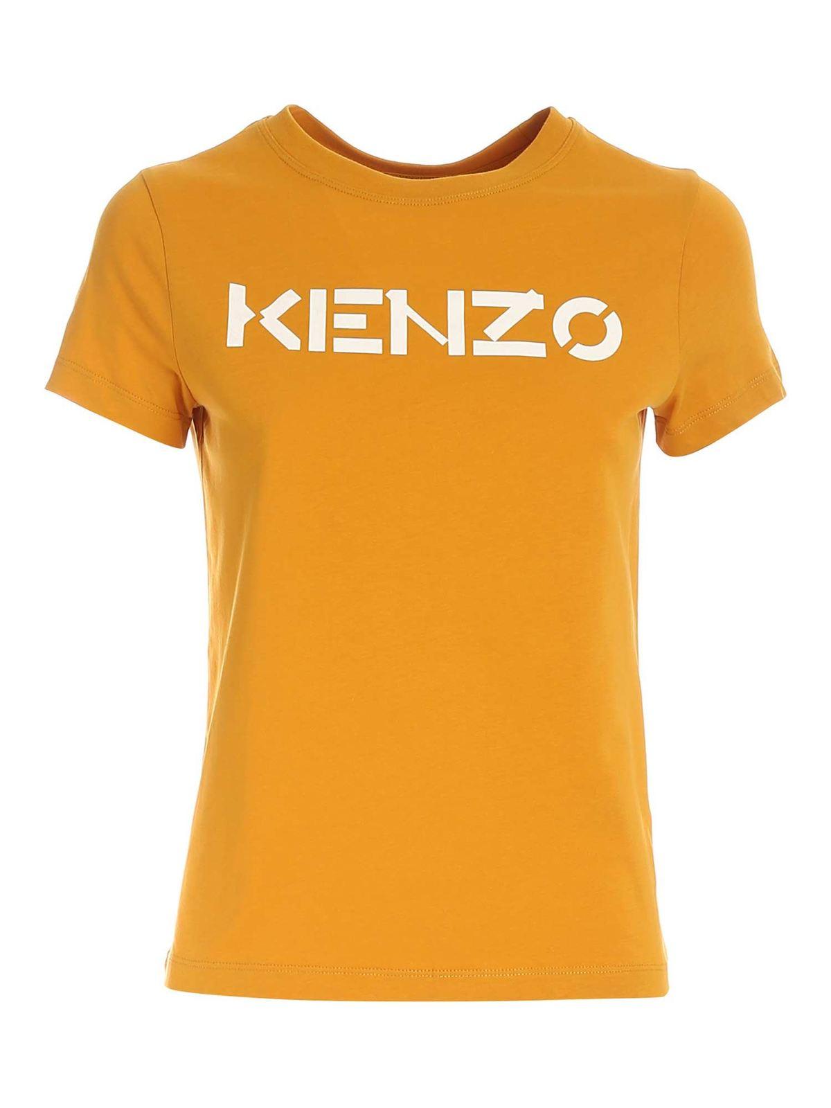 Kenzo CLASSIC KENZO LOGO T-SHIRT IN OCHER