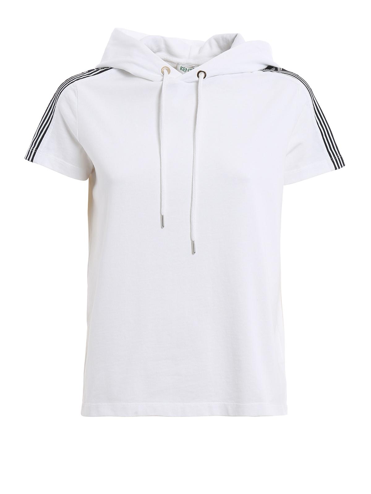 Hooded logo print t shirt by kenzo t shirts ikrix for Logo printed t shirts