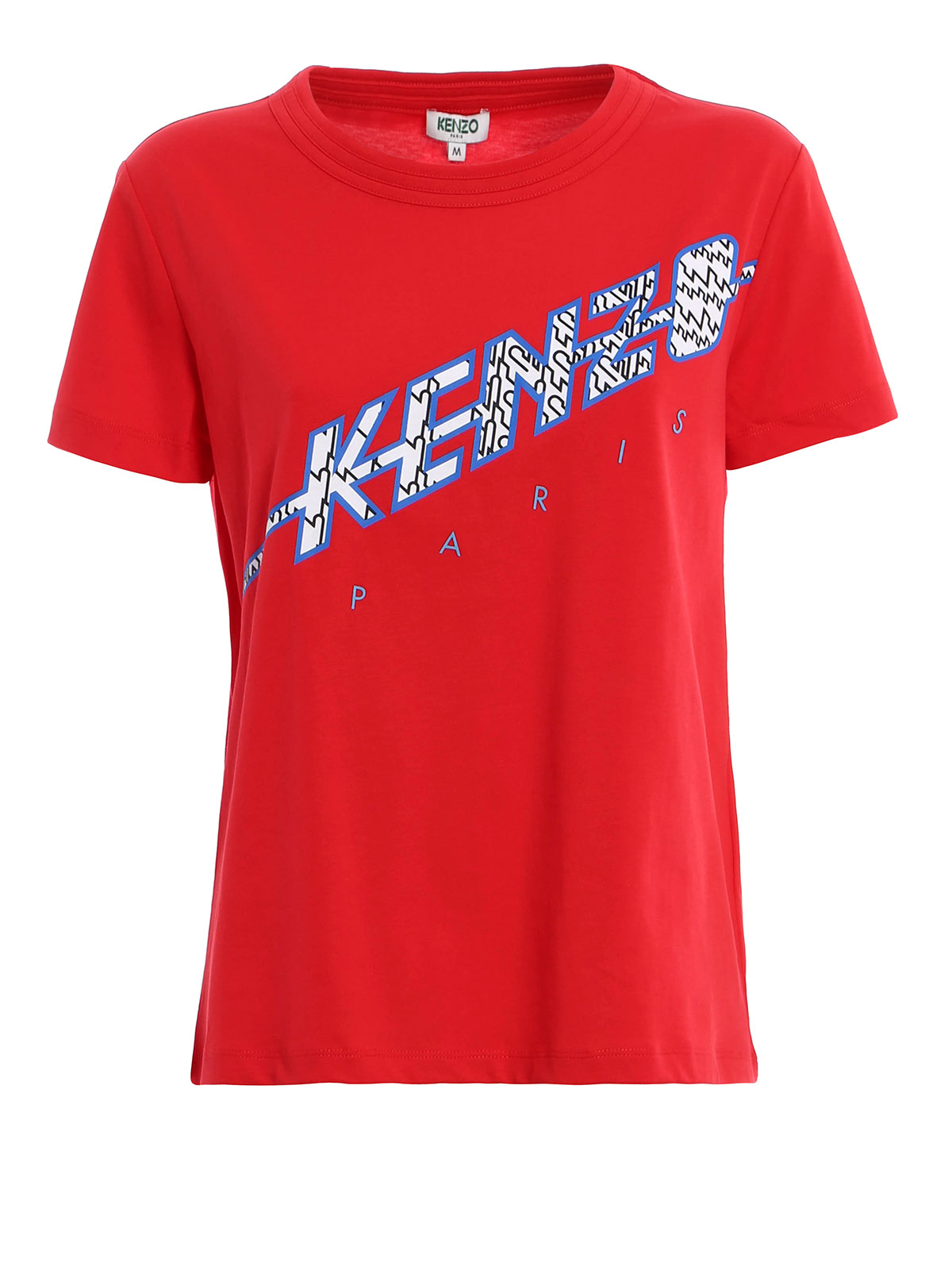 kenzo paris logo cotton t shirt by kenzo t shirts ikrix. Black Bedroom Furniture Sets. Home Design Ideas