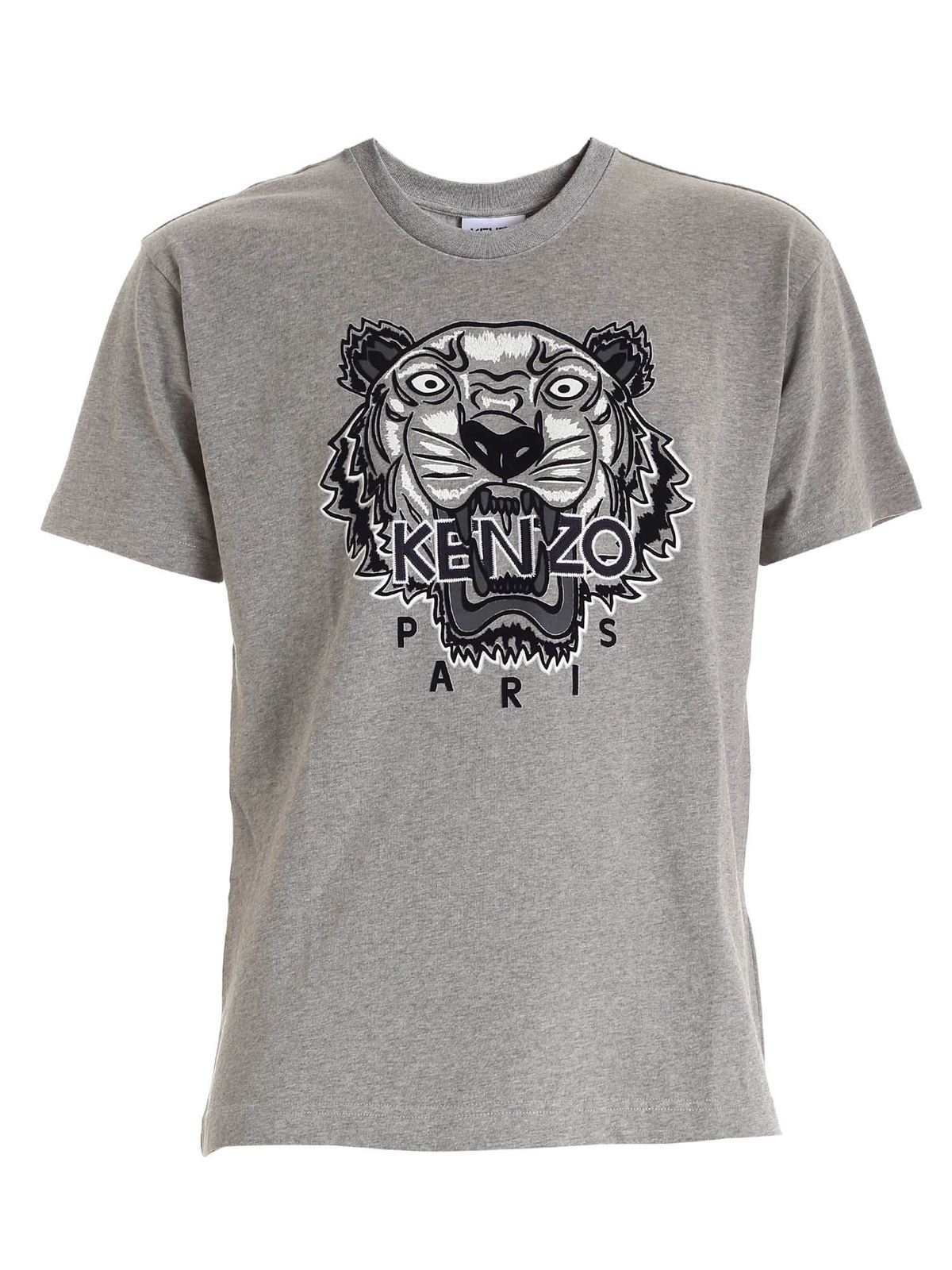 Kenzo VARSITY TIGER T-SHIRT IN GREY