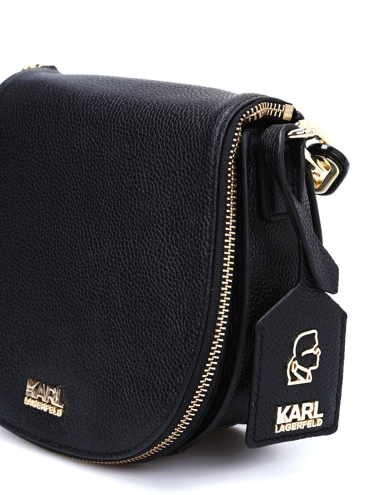 ee83a3e10e33b Karl Lagerfeld - Sac Bandoulière K Grainy Pour Femme - Sacs ...