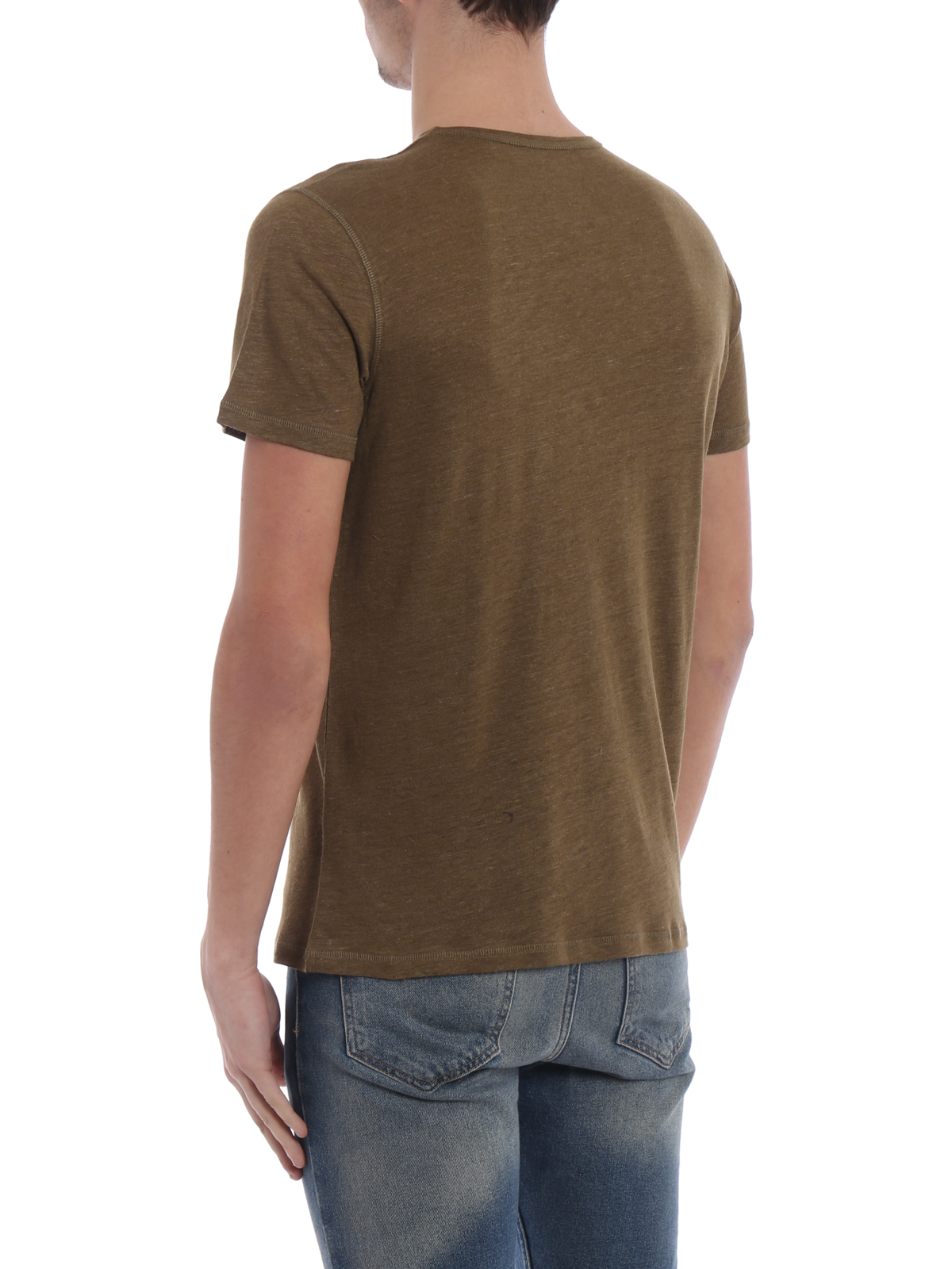 Silk Filatures Khaki Deluxe Shirts T Majestic Linen Shirt And I2ED9WH