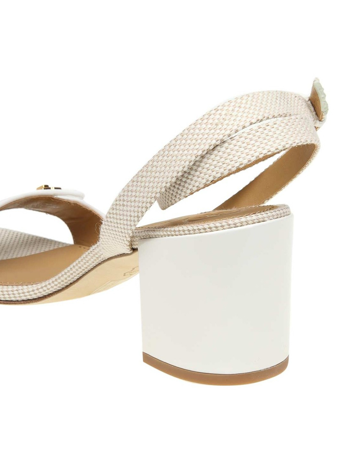 234cb52d0 Tory Burch - Kira canvas and leather sandals - sandals - 55518 263