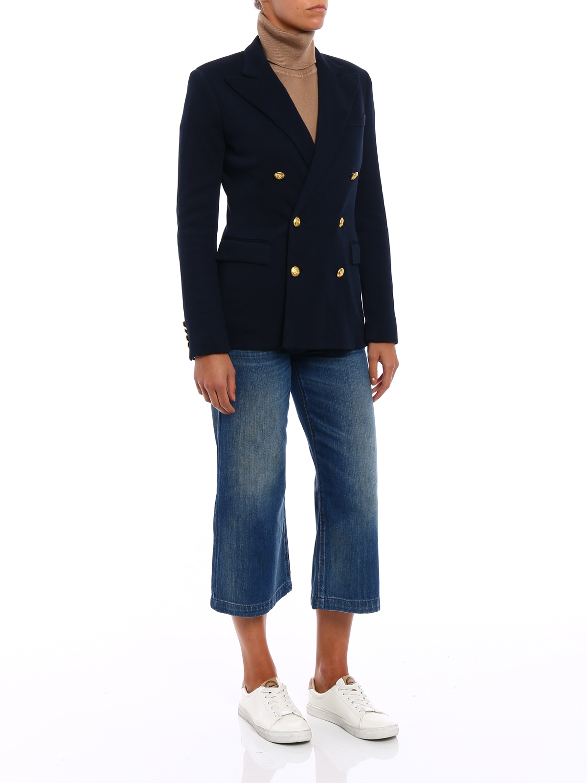 1801a946 Polo Ralph Lauren - Knitted double-breasted blazer - blazers ...