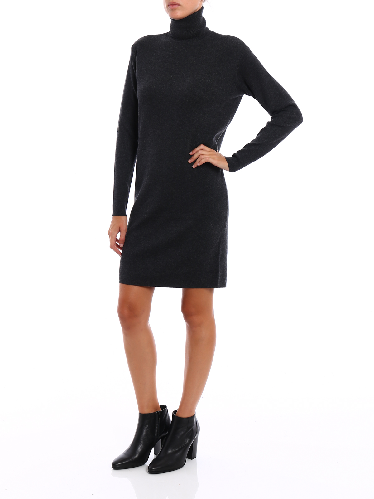knitted turtle neck dress by michael kors short dresses ikrix. Black Bedroom Furniture Sets. Home Design Ideas