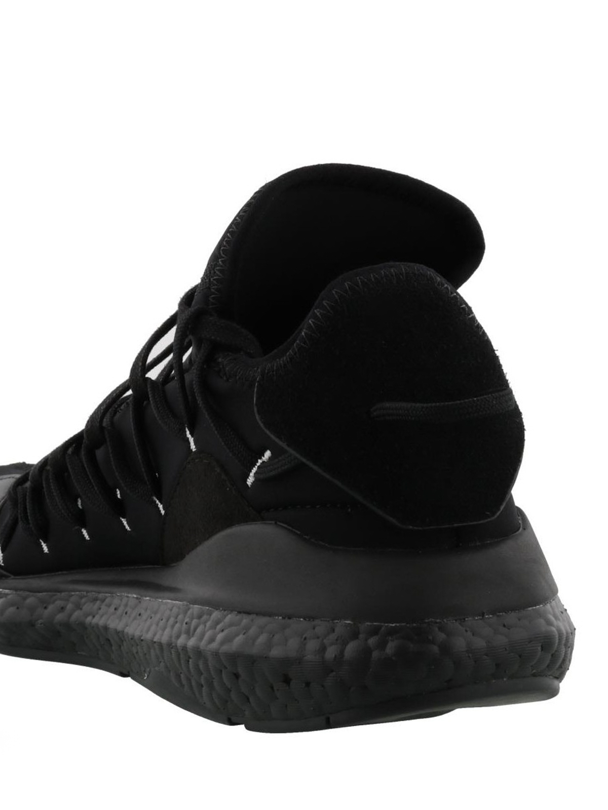 8b27bb5dfaf4 Adidas Y-3 - Kusari neoprene and leather sneakers - trainers - BC0955