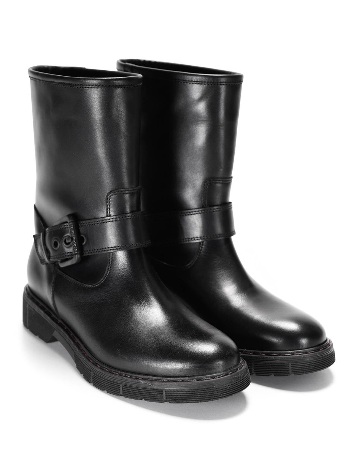 l 39 autre chose leather buckle ankle boots ankle boots. Black Bedroom Furniture Sets. Home Design Ideas