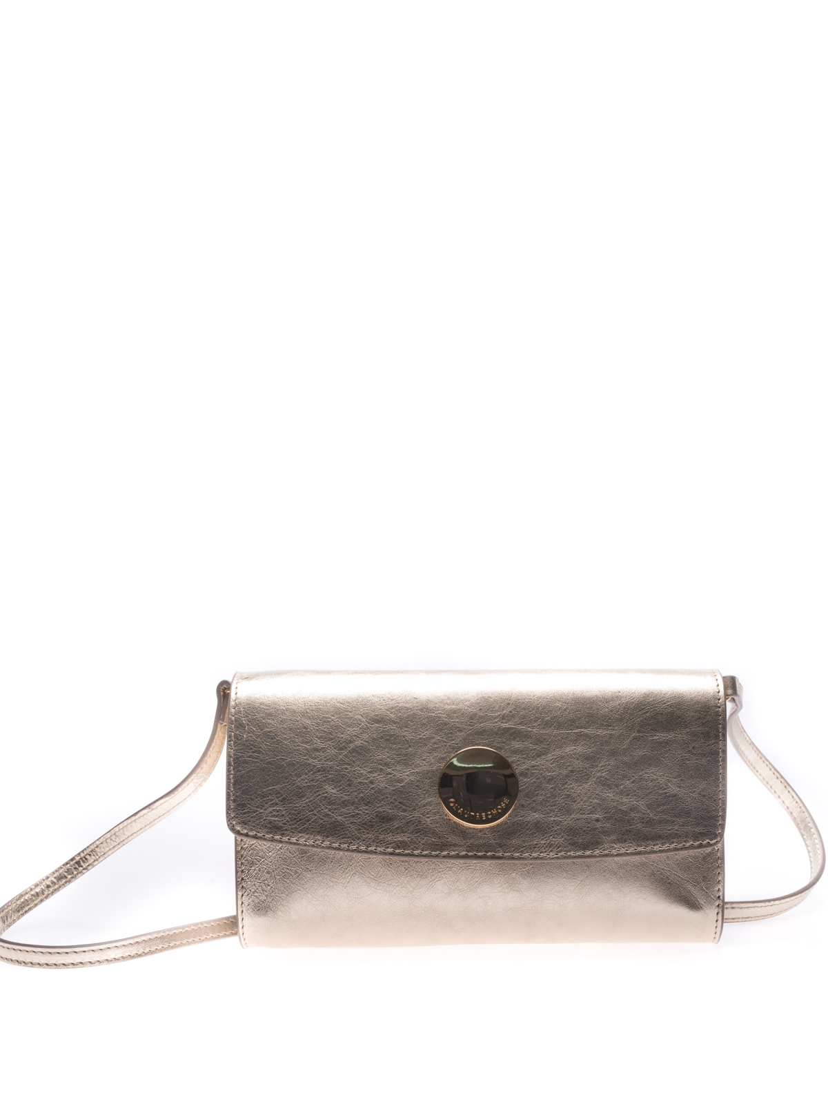 L'autre Chose Gold tone laminated leather clutch uCmMSG0k0H