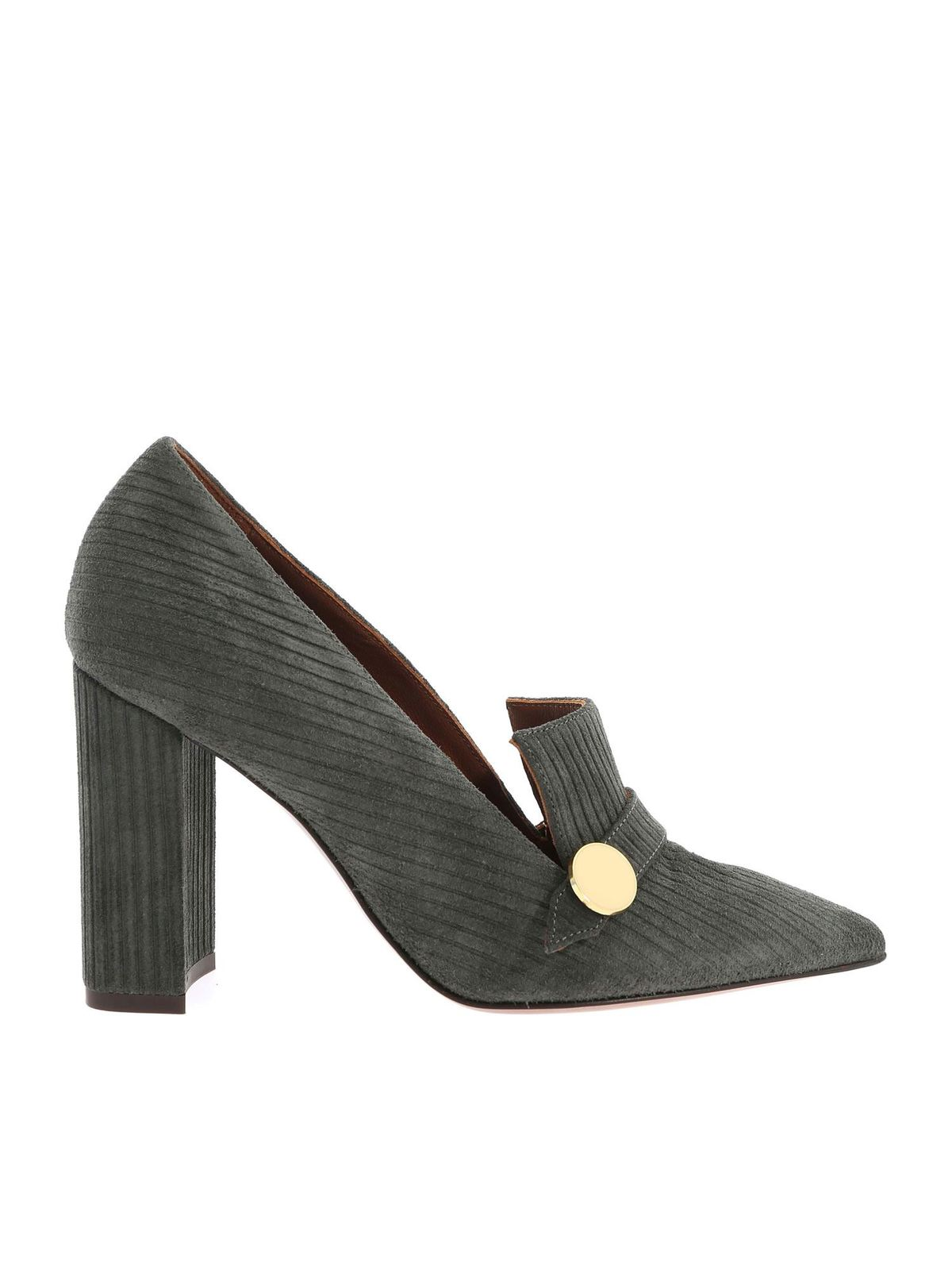 L'autre Chose POINTED PUMPS IN GREEN