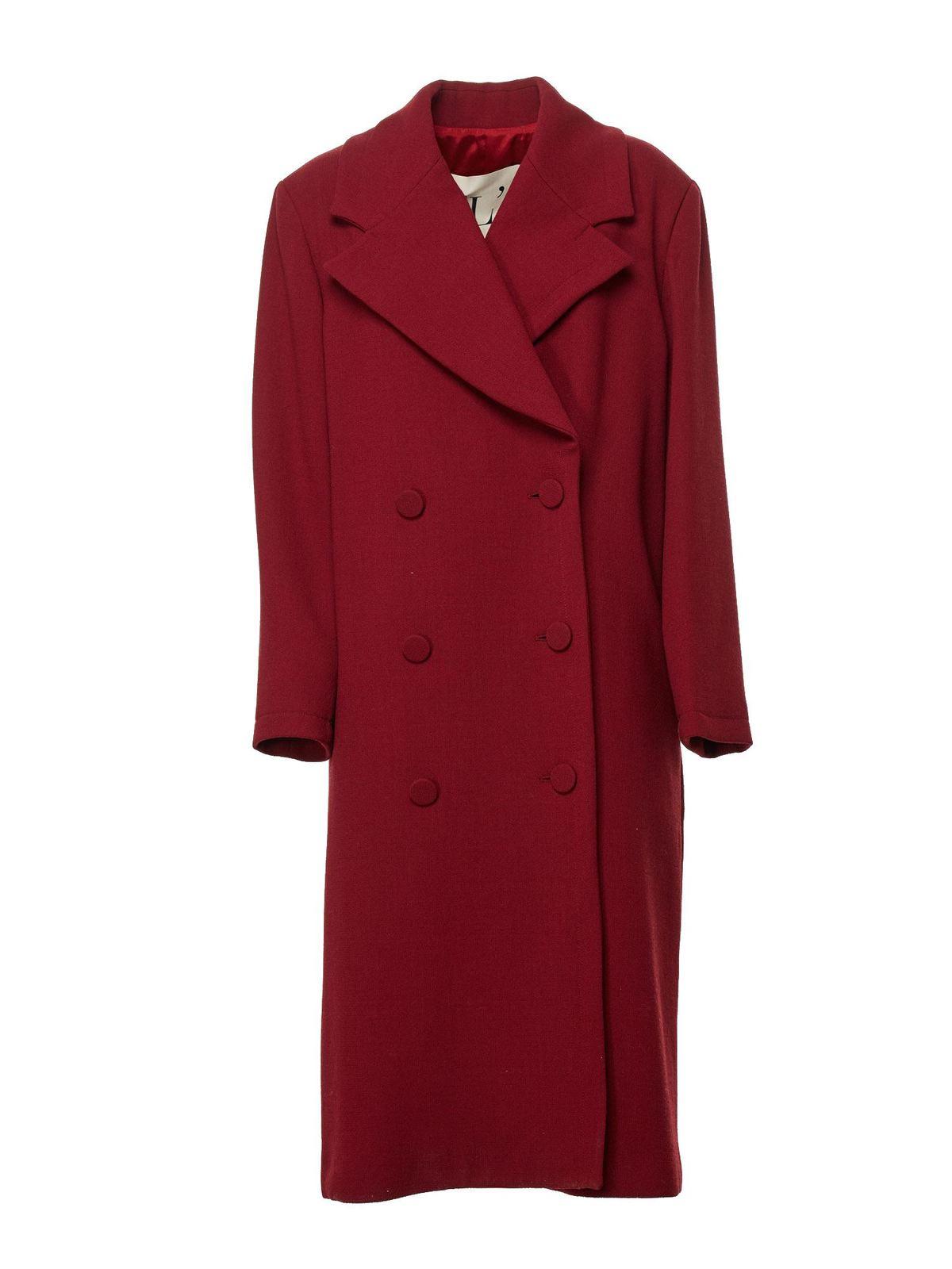 L'autre Chose LONG COAT IN RED