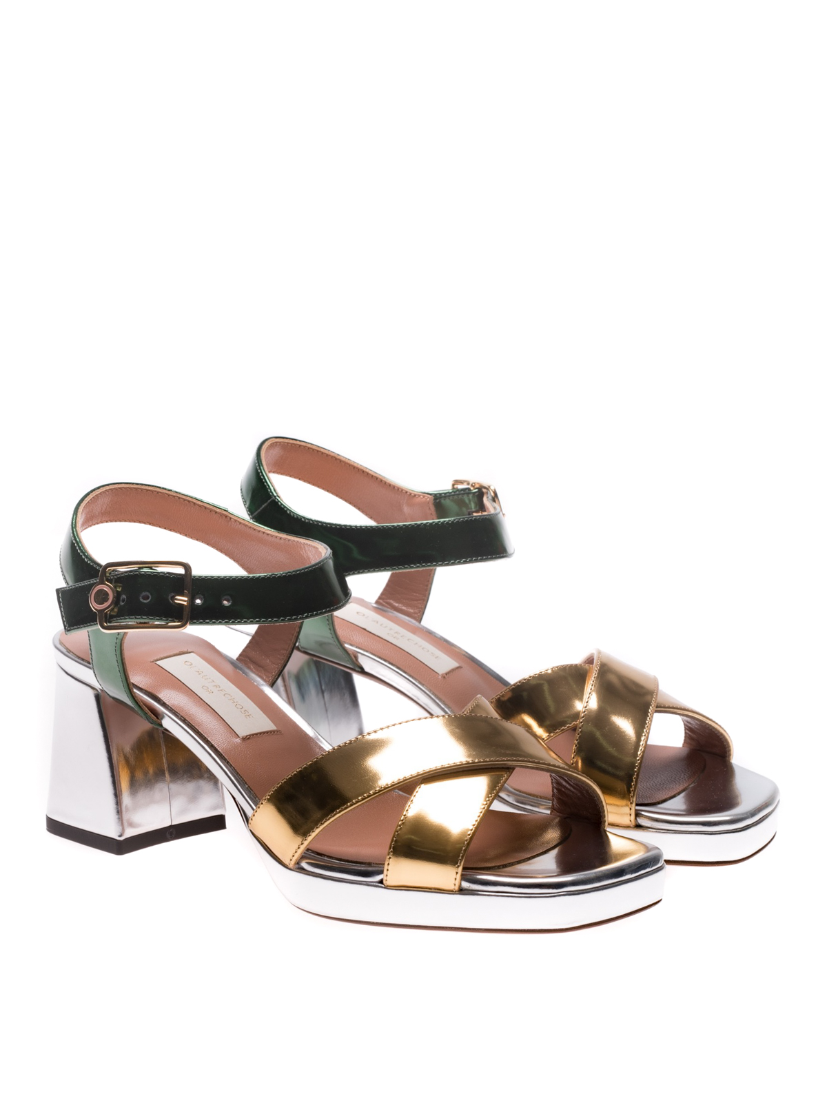 mirrored sandals - Multicolour L'autre Chose EEyhM4z