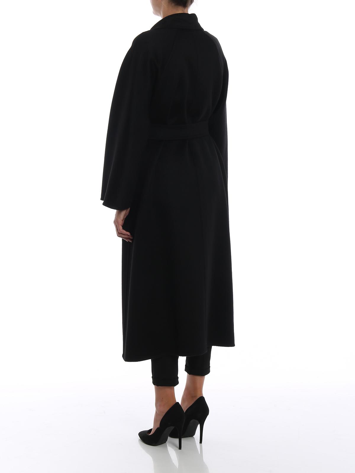 Langer mantel schwarz