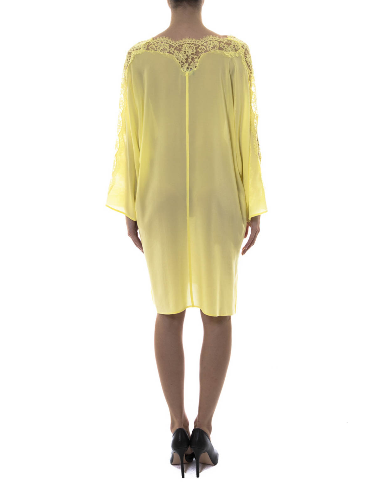 0c2c567689b61 Ermanno Scervino - Lace detail sheer silk caftan - tunics - AB3957
