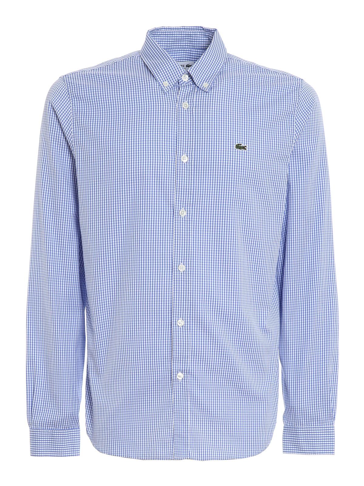 Lacoste Cottons CHECKED PREMIUM COTTON SHIRT