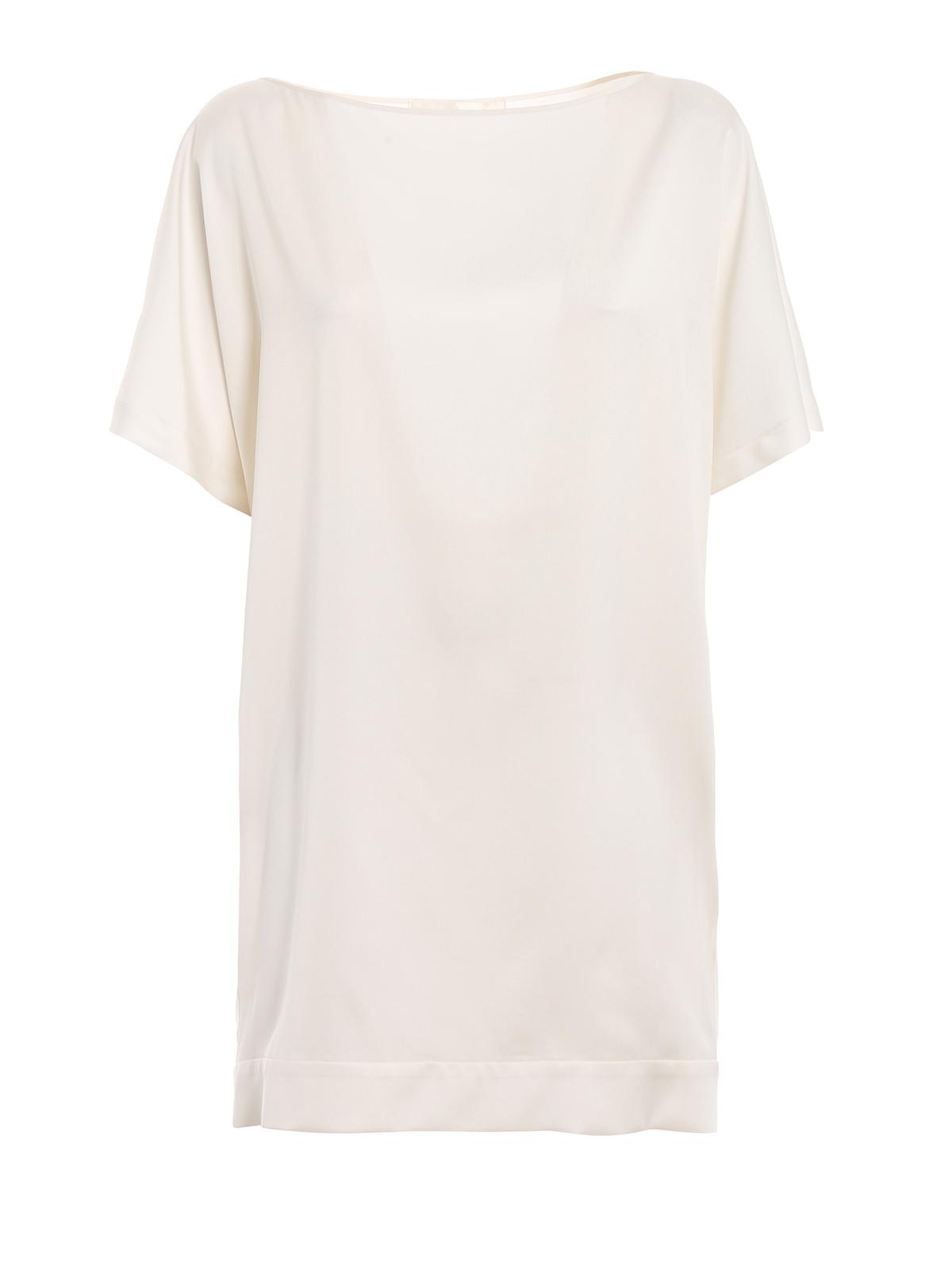 save off 03c10 7e258 Lamberto Losani - Tunica in seta bianca - bluse - 281088 ...