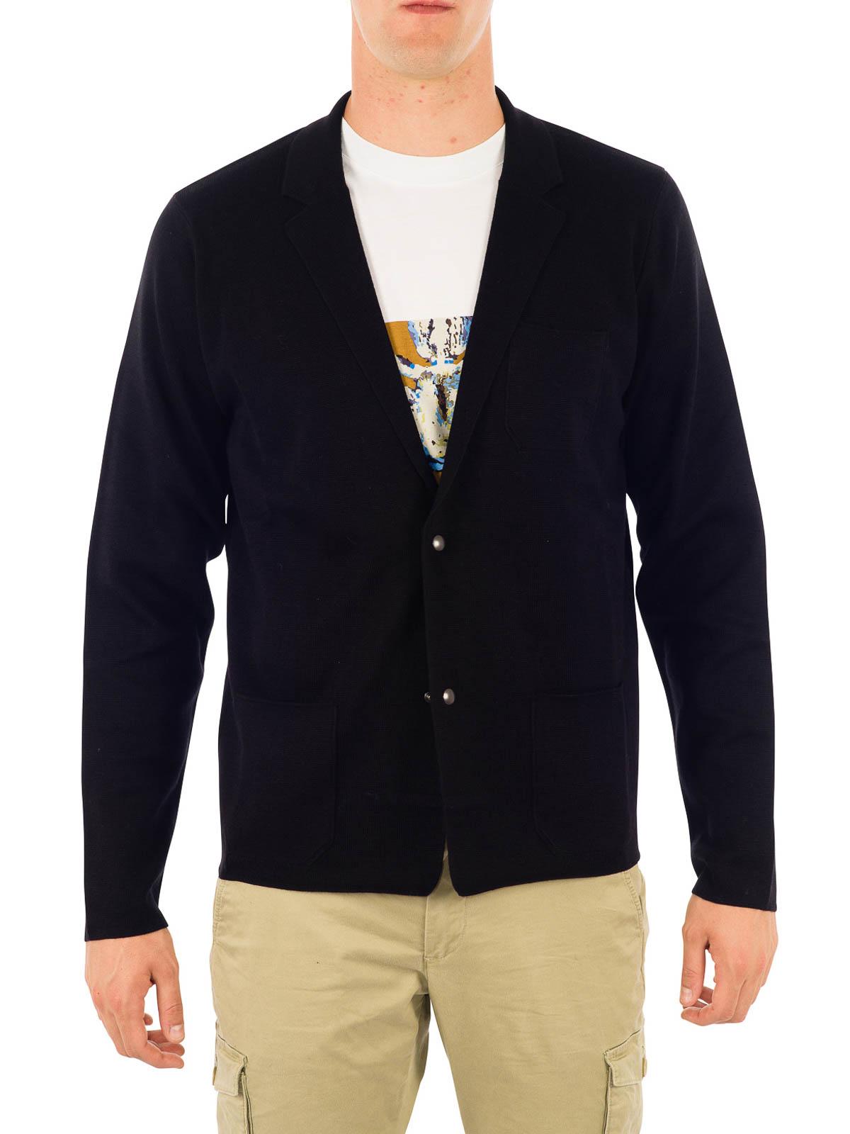 Blazer-inspired wool cardigan by Lanvin - cardigans | iKRIX