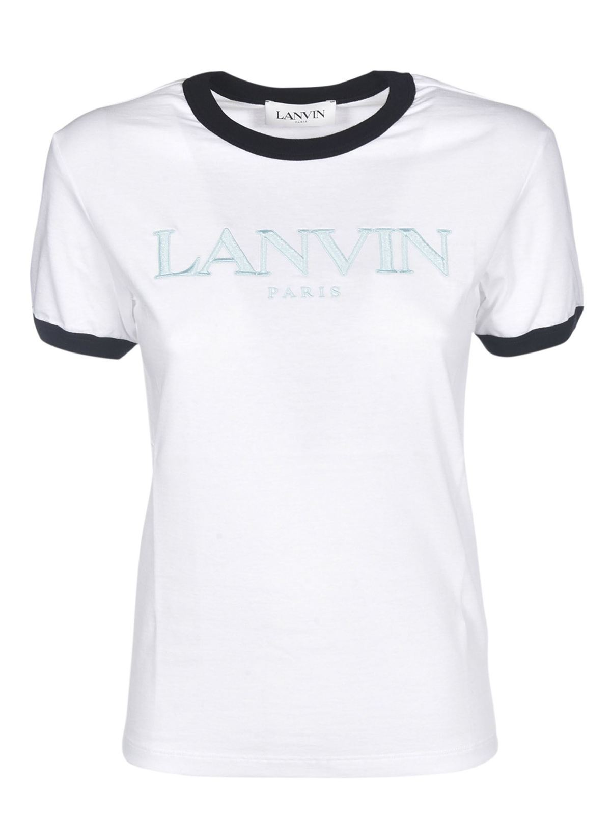 Lanvin Cottons BRANDED T-SHIRT IN WHITE
