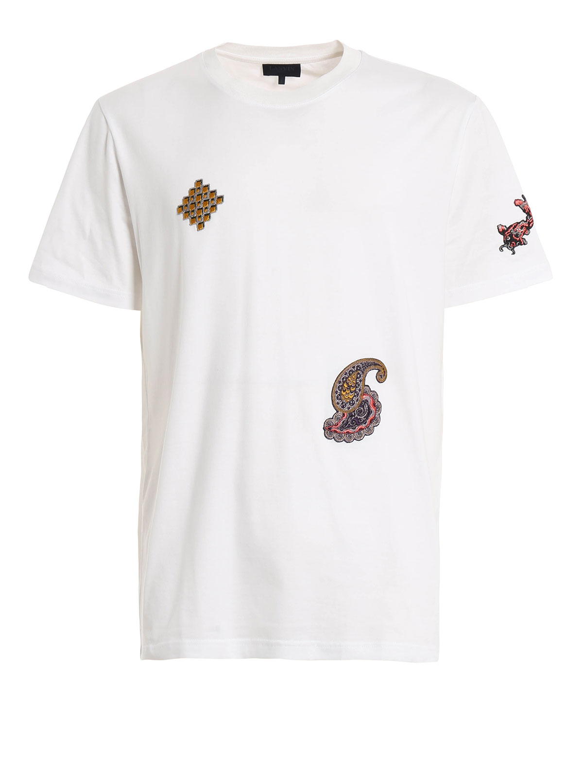 Embroidered patch t shirt by lanvin shirts ikrix