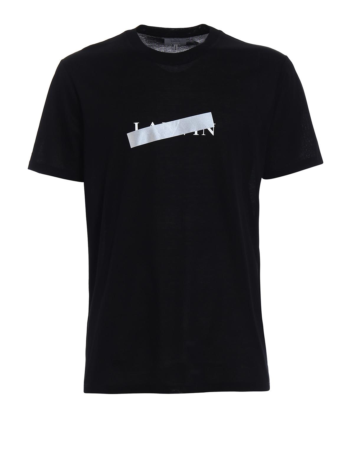 lanvin logo black tshirt by lanvin tshirts ikrix