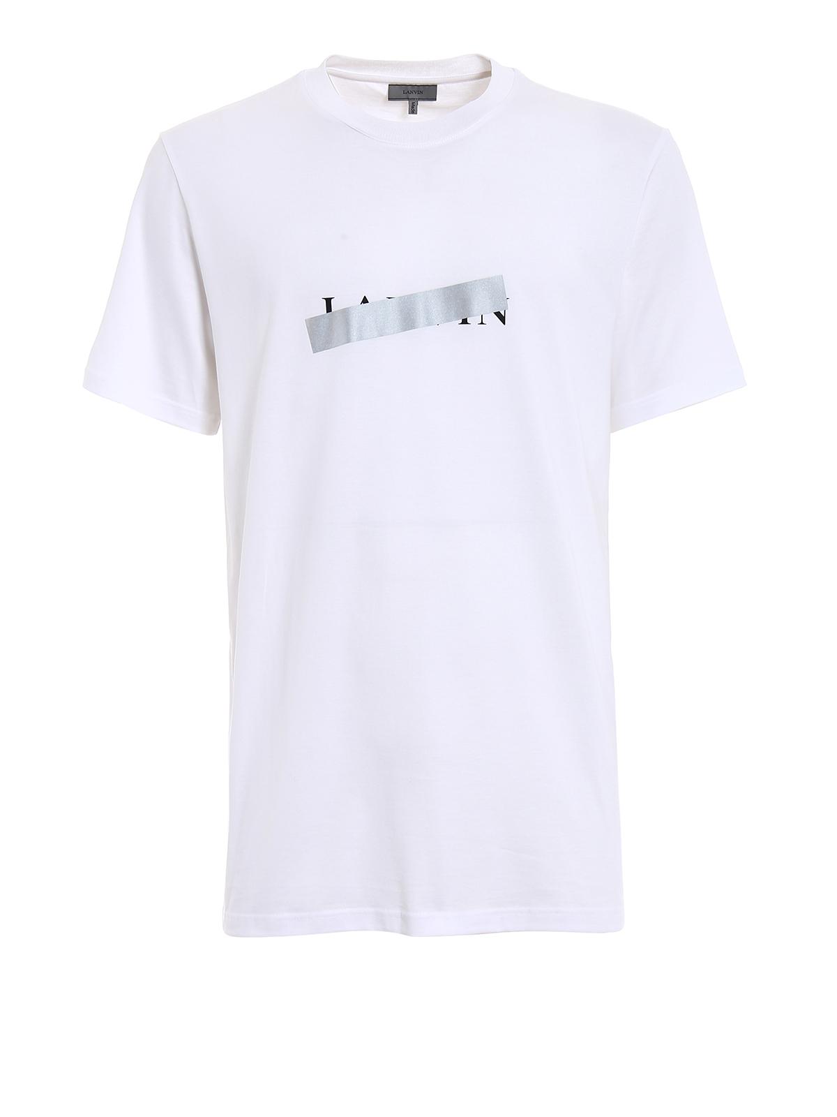 lanvin logo white tshirt by lanvin tshirts ikrix