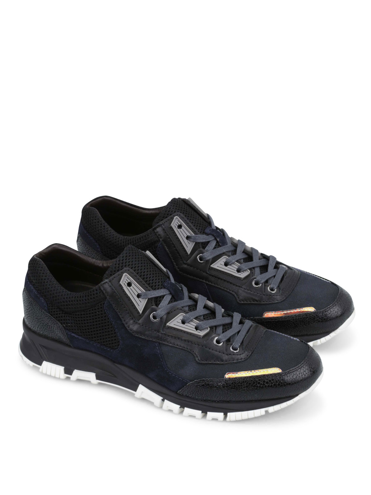 Lanvin Running Sneakers suede leather RzN90kpH