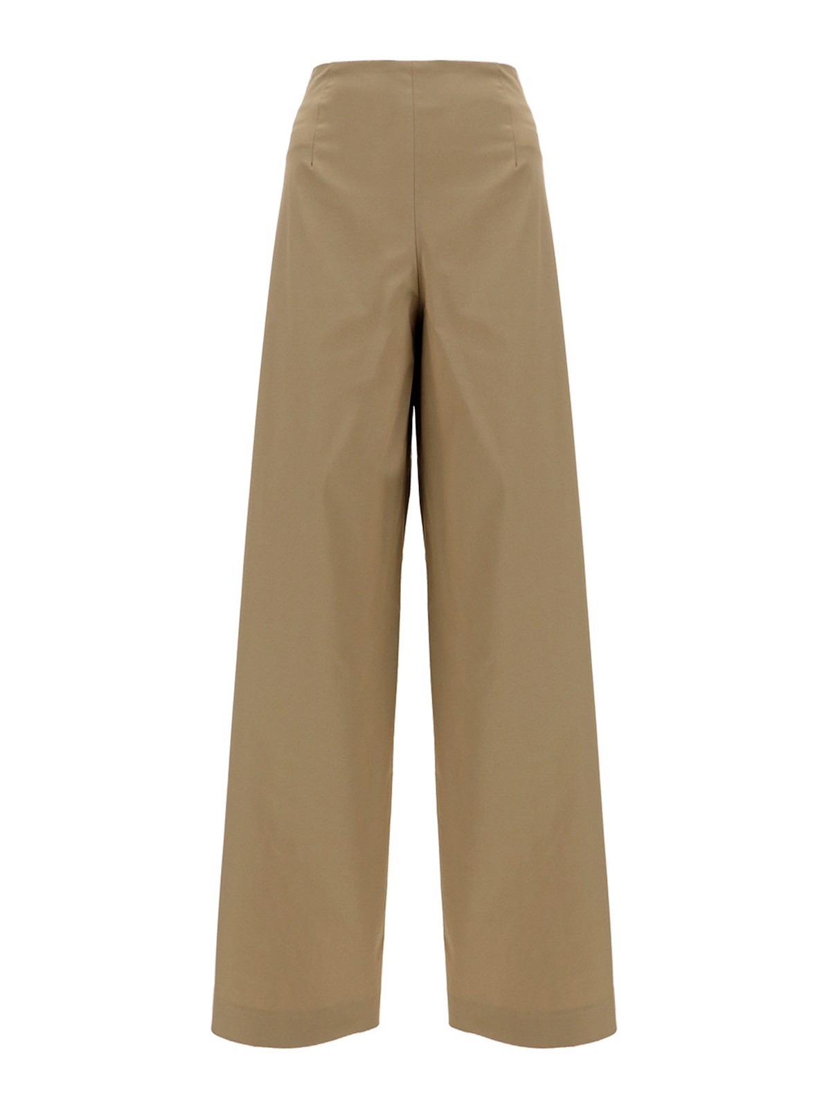 Lardini STRETCH COTTON PALAZZO TROUSERS