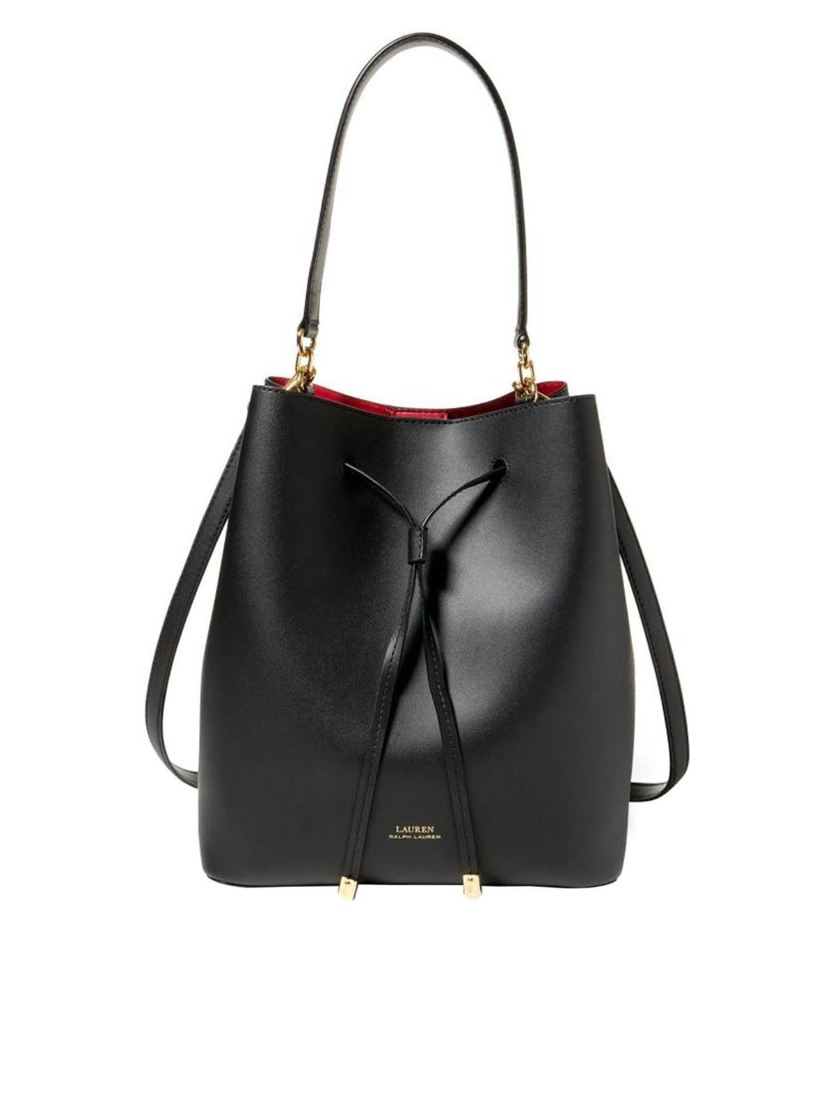 Lauren Ralph Lauren DEBBY BUCKET BAG IN BLACK