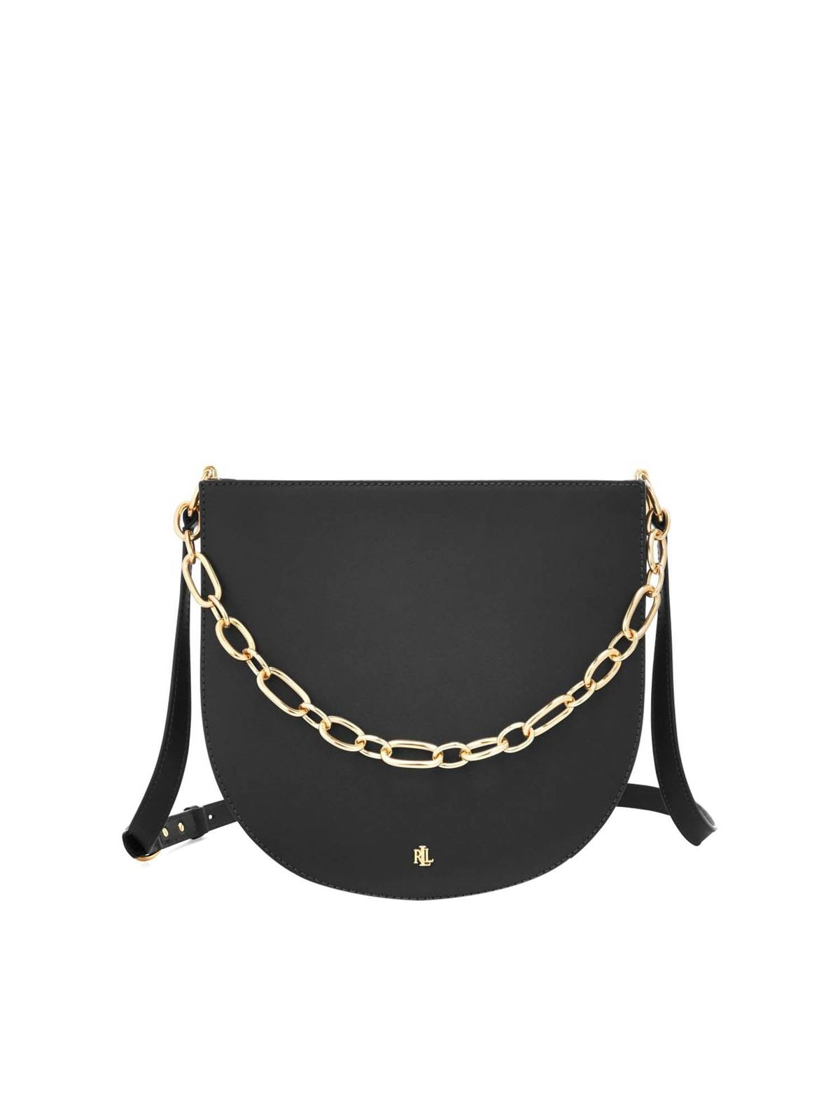 Lauren Ralph Lauren SAWYER SHOULDER BAG IN BLACK